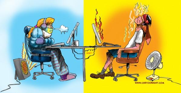 Комфортная температура в офисе
