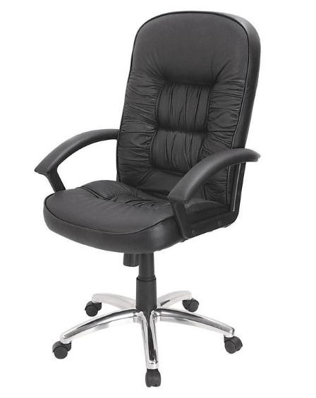 Офисное кресло комфорт кожаное