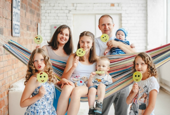 Большая семья пять детей