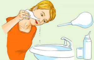 Польза промывания носа соленой водой