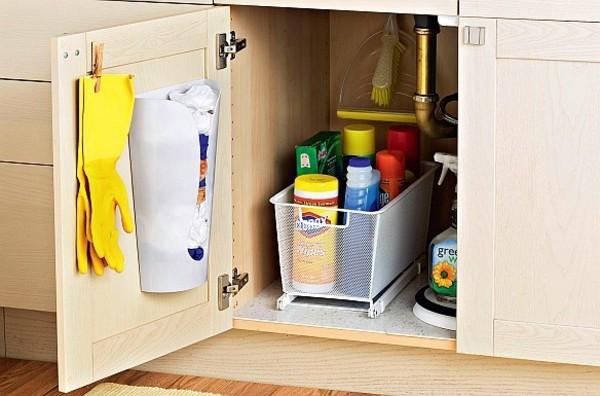 Как поддерживать порядок в доме хранение моющих средств на кухне