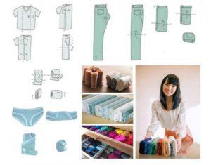Как поддерживать порядок в доме Мари Кондо как складывать вещи